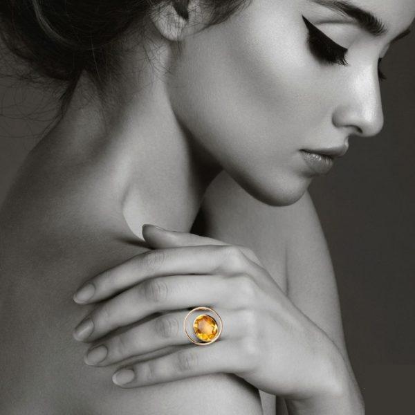 Audrey Huet Joaillerie bague ONE or 18 carats pierres naturelles bijoux haut de gamme pour des femmes de caractère