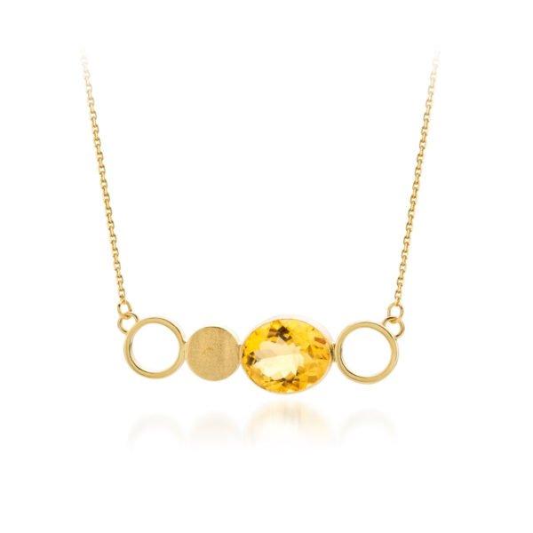 Audrey Huet Joaillerie collier MIXX bijoux colorés citrine or 18 carats design épuré pour des femmes élégantes de caractère