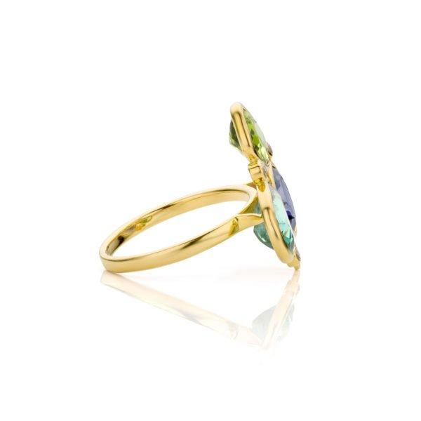 Audrey Huet Joaillerie Bague N°3 pierres gemmes naturelles et colorées