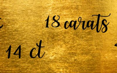 Que choisir? Un bijou en or 9, 14 ou 18 carats?