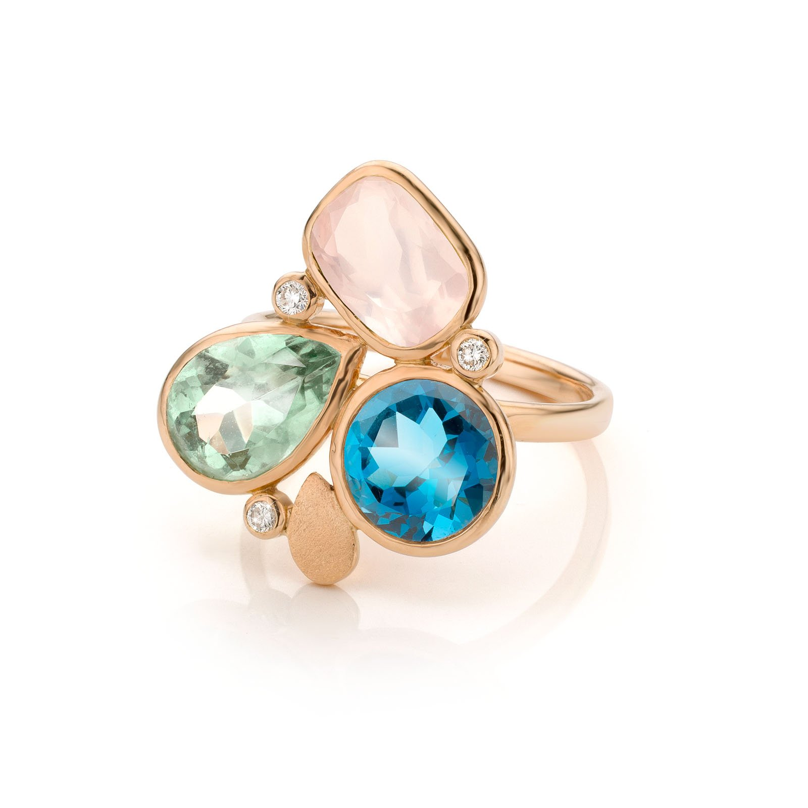 Audrey Huet Joaillerie : Ring N°3 colored and natural stones for elegant women with character MADE in Belgium